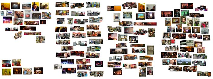 some of the pics, which are printed out at 300 dpi, so are tiny tiny things - quite nice I think